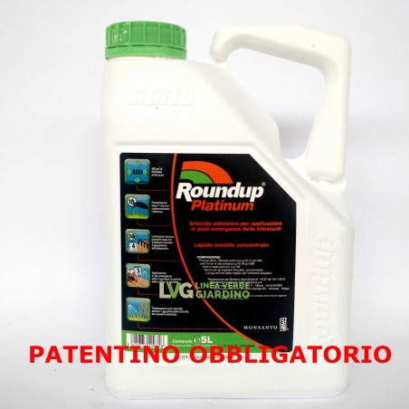 ROUNDUP PLATINUM Diserbante Totale Glifosate 5 L