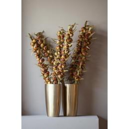 Vaso in ceramica dorato